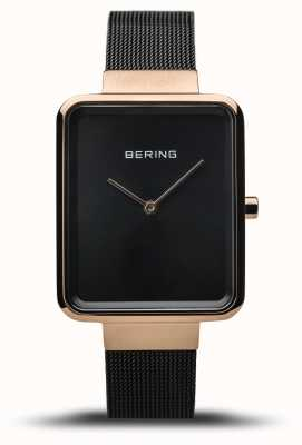 Bering | Women's Classic | Polished Black Mesh | Black Dial | 14528-166