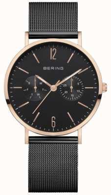 Bering Women's Classic | Black Mesh Bracelet | Black Dial | 14236-163