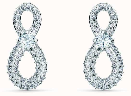 Swarovski Infinity | Mini Pierced Stud Earrings | Rhodium Plated | 5518880