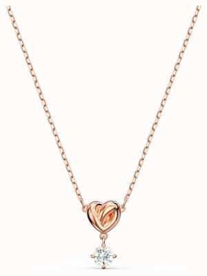 Swarovski Lifelong | Heart Pendant Necklace | Rose Gold Plated | White 5516542