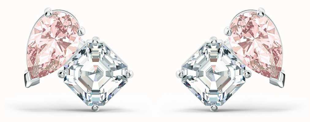 Swarovski Attract Soul | Pierced Earrings | Rhodium Plated | Pink 5517118