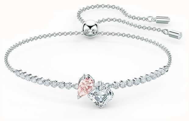 Swarovski Attract Soul | Rhodium Plated Bracelet | Pink 5517120