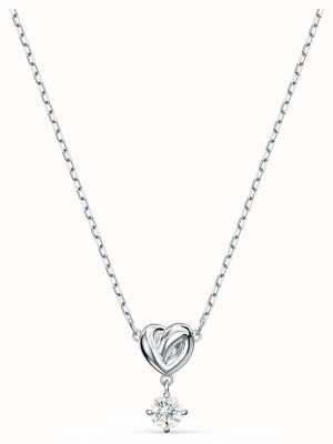 Swarovski Lifelong | Heart Pendant Necklace | Rhodium Plated | White 5517928