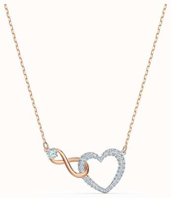 Swarovski Infinity Heart Necklace | White | Mixed Metal Finish 5518865