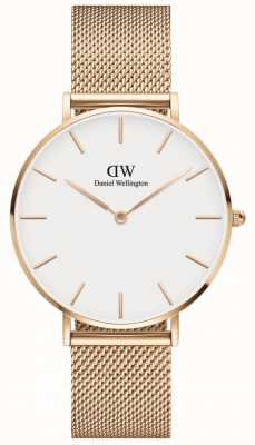 Daniel Wellington | Petite Melrose 36 | Rose Gold Mesh | White Dial | DW00100305