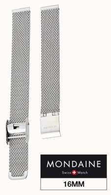 Mondaine | 16mm Helvetica Steel Mesh Strap | FM8916STEM2