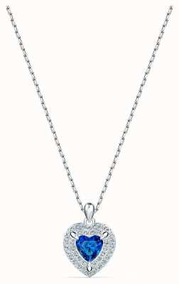 Swarovski One Pendant | Rhodium Plated Necklace | Blue 5511541