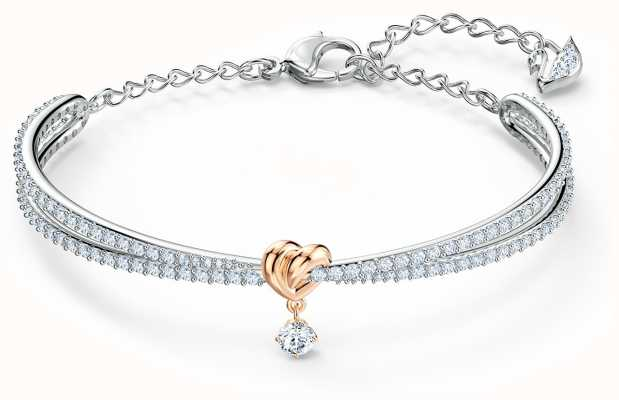 Swarovski | Lifelong Heart | Mixed Metal | Bangle | White 5516544