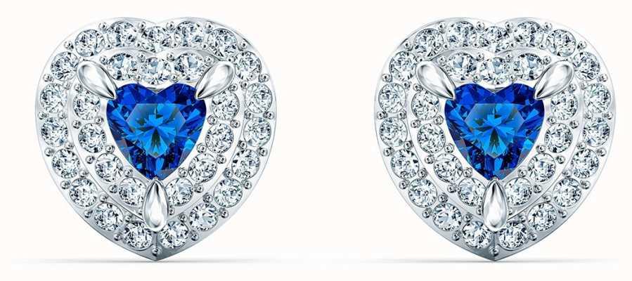 Swarovski | One Stud | Sapphire Crystal Heart Earrings| 5511685
