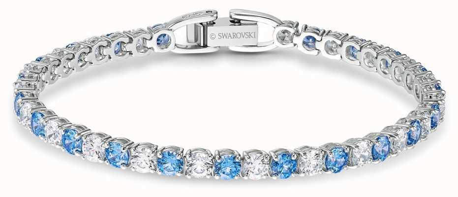 Swarovski | Tennis Deluxe Bracelet | Blue And White Crystals | 5536469