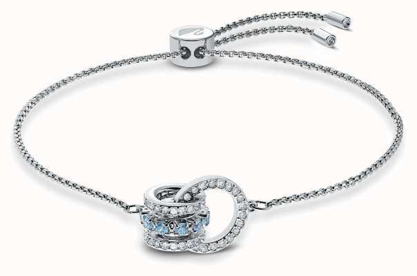 Swarovski | Further | Rhodium Plated | Blue Crystal | Bracelet | 5537123