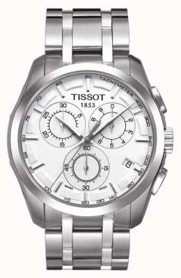 Tissot Mens Couturier Chronograph Stainless Steel Silver Dial T0356171103100