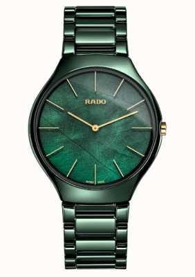 Rado Womens |True Thinline | Green Ceramic R27006912