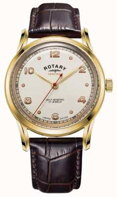 Rotary Men's | Limited Edition | Heritage | Brown Leather Strap GS05143/03