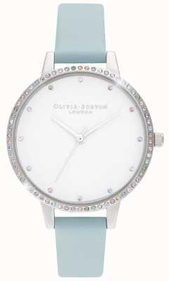 Olivia Burton | Womens | Rainbow Bezel | Turquoise & Silver | OB16RB19