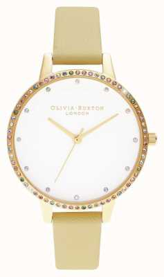 Olivia Burton | Womens | Rainbow Bezel | Sunshine & Gold Bracelet | OB16RB20
