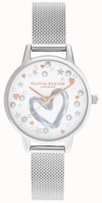 Olivia Burton Rose Gold & Silver Mesh bracelet OB16LH12