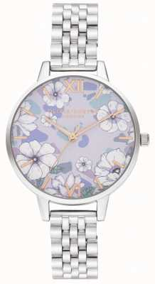 Olivia Burton Groovy Blooms Rose Gold & Silver Bracelet OB16AN05