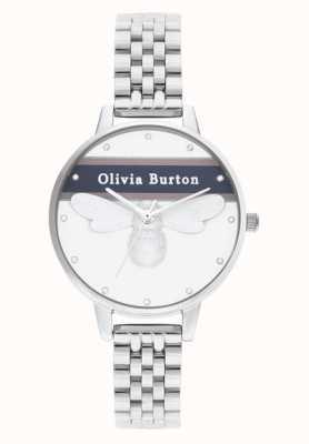 Olivia Burton | Womens | Varsity Lucky Bee | Silver Bracelet | OB16VS07
