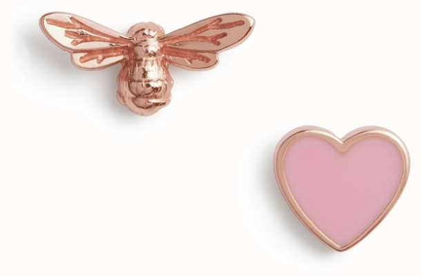 Olivia Burton | You Have My Heart | Pink And Rose Gold | Stud Earrings | OBJLHE44