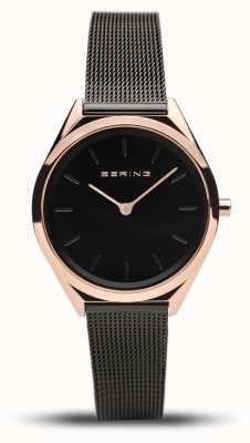 Bering | Unisex | Ultra-Slim | Black Mesh Bracelet | 17031-166