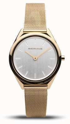 Bering | Unisex | Ultra-Slim | Gold Mesh Bracelet | 17031-334