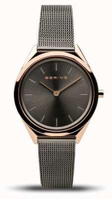 Bering | Unisex | Ultra-Slim | Grey Mesh Bracelet | 17031-369