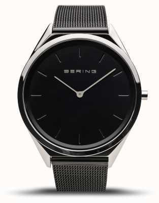 Bering | Unisex | Ultra-Slim | Black Mesh Bracelet | 17039-102