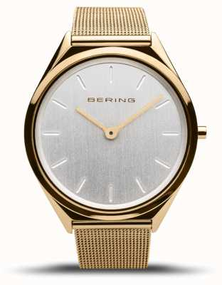 Bering | Unisex | Ultra-Slim | Gold Mesh Bracelet | 17039-334