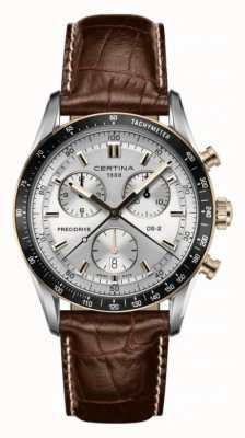 Certina DS-2 Chronograph 1/100 Sec Brown Leather Strap C0244472603100
