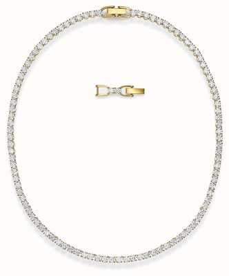 Swarovski Tennis Deluxe Necklace | Gold-Tone Plated | White 5511545
