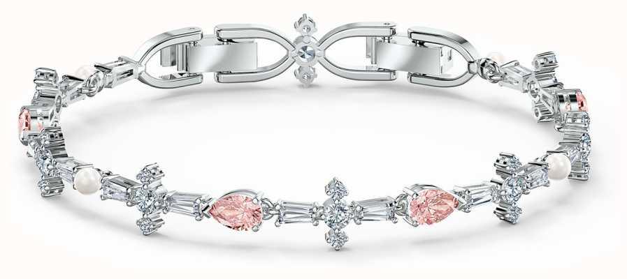 Swarovski Perfection   Bracelet   Rhodium Plated   Pink 5524544
