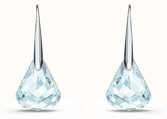 Swarovski Spirit | Pierced Earrings | Rhodium Plated | Aqua 5529138