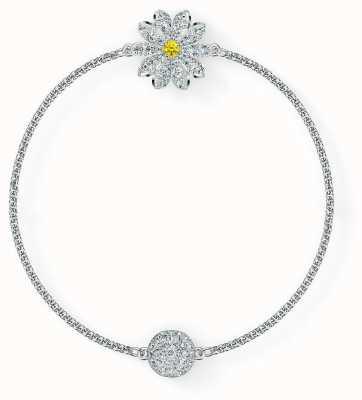 Swarovski Remix | Flower Strand Bracelet | Rhodium Plated | White | L 5535299