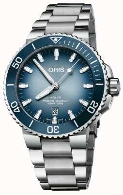 ORIS Lake Baikal | Limited Edition | Men's Stainless Steel Aquis 01 733 7730 4175-SET
