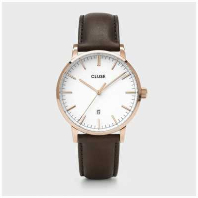 CLUSE Aravis | Brown Leather Strap | White Dial CW0101501002