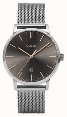 CLUSE Aravis | Steel Mesh Bracelet | Dark Grey Dial CW0101501003