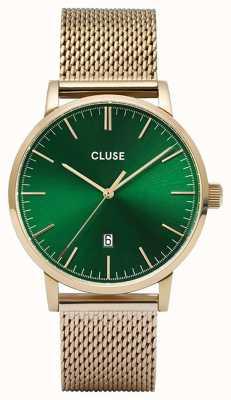 CLUSE | Aravis | Gold Tone Mesh Bracelet | Green Dial | CW0101501006