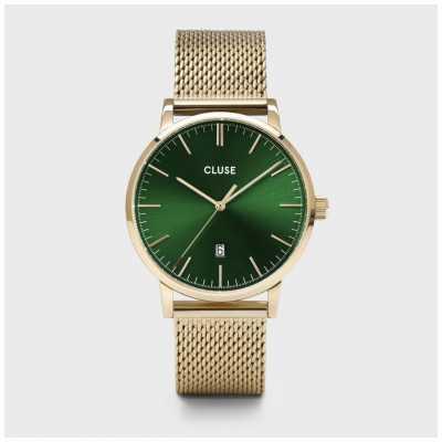 CLUSE Aravis | Gold Tone Mesh Bracelet | Green Dial CW0101501006