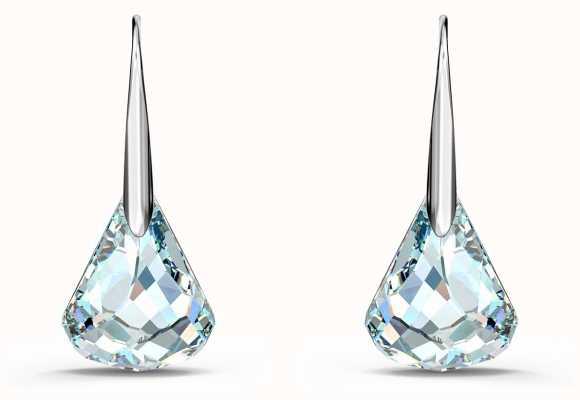 Swarovski Spirit | Rhodium Plated | Pierced Earrings | White/Blue 5516533