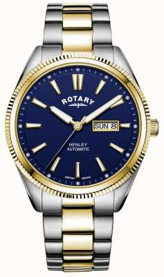 Rotary Men's Henley | Two-Tone Stainless Steel Bracelet | Blue Dial GB05381/05