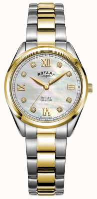 Rotary Women's Henley | Diamond Set Dial | Two-Tone Bracelet | LB05111/41/D