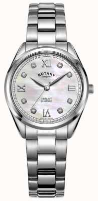Rotary Women's Henley | Stainless Steel Bracelet | Diamond Set Dial LB05110/07/D