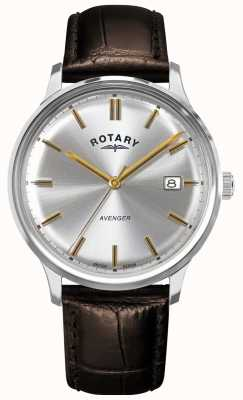 Rotary Men's Avenger | Brown Leather Strap | Silver Dial | GS05400/06