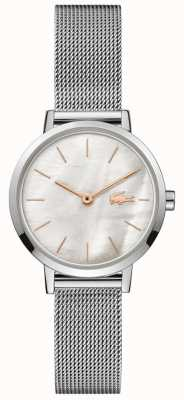 Lacoste Women's Moon | Stainless Steel Mesh | Mother Of Pearl Dial 2001121