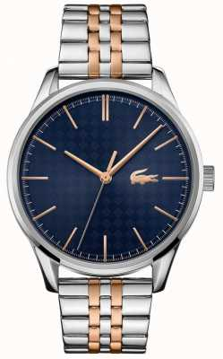 Lacoste Men's Vienna | Two Tone Stainless Steel Bracelet | Blue Dial 2011048