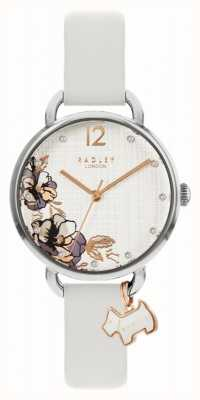 Radley | Women's Grey Leather Strap | Floral Print Dial RY2981