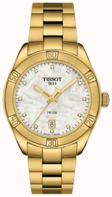 Tissot Women's PR 100 | Sport Chic Chronograph | Mother Of Pearl T1019173311601