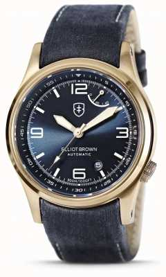 Elliot Brown | Tyneham | Blue Dial | Tumbled Blue Leather 305-D07-L22