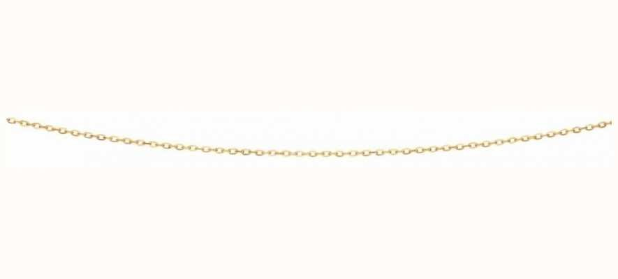 """Elements Gold 9ct Yellow Gold  Flattened Cable Chain 18"""" GN277"""